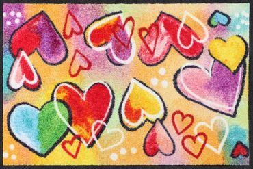 Salonloewe Fußmatte Heartbeat waschbar Schmutzmatte bunt – Bild 1