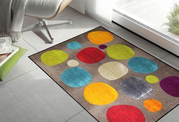 Salonloewe Fußmatte Broken Dots colourful 115 x 175 cm waschbar Schmutzmatte Kreise – Bild 2