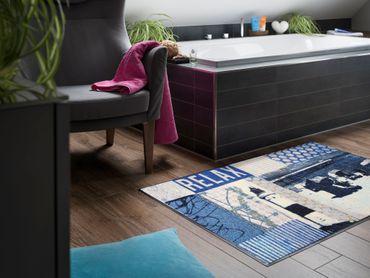 Salonloewe Fußmatte Strandkorb waschbar Schmutzmatte  – Bild 5
