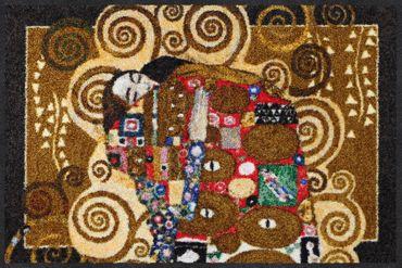 Salonloewe Gustav Klimt Fußmatte Die Erfüllung melange waschbare Schmutzmatte  – Bild 1