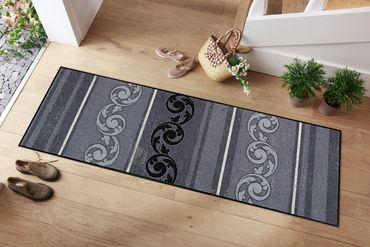 Salonloewe Fußmatte Arabeske Grau waschbar Schmutzmatte  – Bild 3