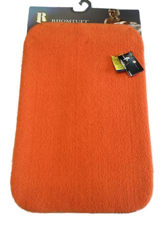 Rhomtuft Badteppich Aspect 60 x 90 cm Orange Flusenfreier Velours  – Bild 1
