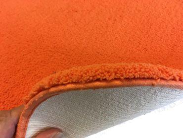 Rhomtuft Badteppich Aspect 60 x 90 cm Orange Flusenfreier Velours  – Bild 2