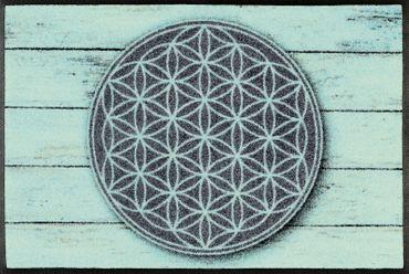 wash+dry Fußmatte Pattern of Life waschbare Schmutzmatte Mandala – Bild 1