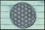wash+dry Fußmatte Pattern of Life waschbare Schmutzmatte Mandala