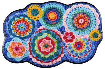 Salonloewe Fußmatte Crochet  waschbar Schmutzmatte – Bild 1