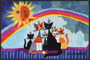 Rosina Wachtmeister Fußmatte Sunny Family 50 x 75 cm waschbar Schmutzmatte
