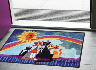 Rosina Wachtmeister Fußmatte Sunny Family 50 x 75 cm waschbar Schmutzmatte  – Bild 2