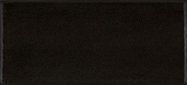 wash+dry Minimatte Raven black mit Rand Schuhablage Stufenmatte waschbare Fußmatte – Bild 1