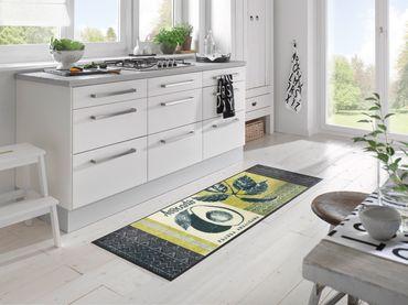 wash+dry Küchenteppich Avocado 60 x 180 cm waschbare Schmutzmatte – Bild 2