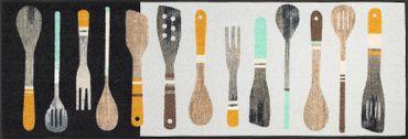 wash+dry Küchenteppich Cooking Tools 60 x 180 cm waschbare Schmutzmatte – Bild 1