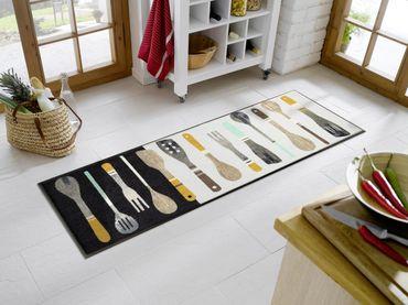 wash+dry Küchenteppich Cooking Tools 60 x 180 cm waschbare Schmutzmatte – Bild 2