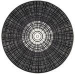 Runde wash+dry Fußmatte Cascara Black waschbare Schmutzmatte 001