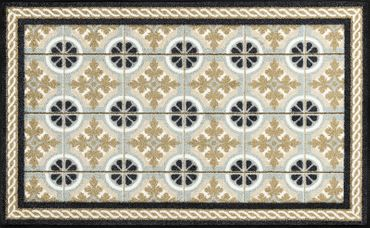 wash+dry Küchenteppich Kitchen Tiles 75 x 120 cm waschbare Fußmatte
