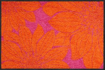Salonloewe Fußmatte Big Margarites magenta-orange 50 x 75 cm waschbar Schmutzmatte – Bild 1