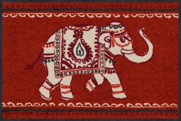 Salonloewe Fußmatte Indian Elephant 50 x 75 cm waschbar Schmutzmatte