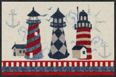 Salonloewe Fußmatte Faro Leuchtturm waschbarer Türvorleger Läufer