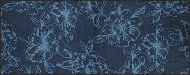 Salonloewe Fußmatte Flower Dance blue waschbarer Türvorleger Läufer  – Bild 2