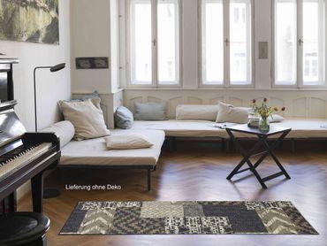 Salonloewe Fußmatte Natural Kelim grey waschbarer Türvorleger Läufer  – Bild 4