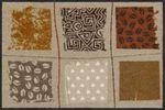 Salonloewe Fußmatte Grunge Coffee Patchwork Türvorleger Läufer  001