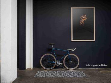 Salonloewe Fußmatte Block Print graphite Türvorleger Läufer  – Bild 4