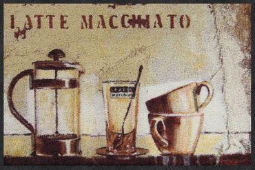 Salonloewe Fußmatte Latte Time waschbarer Küchenteppich Läufer  – Bild 1