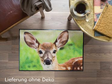 Salonloewe Fußmatte Nosy Fawn 50 x 75 cm Schmutzmatte Rehkitz – Bild 3