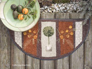 Salonloewe Fußmatte Air de Provence stripes halbrund 42 x 85 cm waschbar – Bild 2