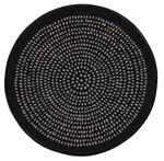 Salonloewe runde Fußmatte Nestor round black 65 cm waschbare Schmutzmatte 001