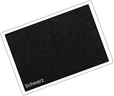 Waschbare Fußmatte Premium Schwarz Maßanfertigung – Bild 2