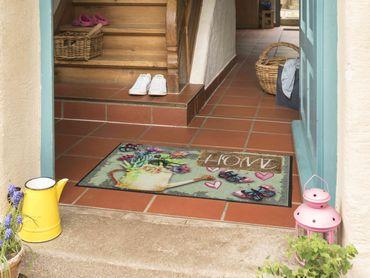 Salonloewe Fußmatte Garden Home 50 x 75 cm waschbar Schmutzmatte – Bild 2