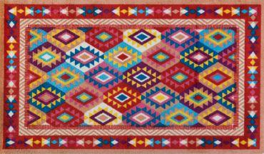 wash+dry Fußmatte Santa Fe randloser waschbarer Teppich – Bild 1