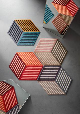 wash+dry Fußmatte Puzzle Cube velvet 100 x 100 cm velvet ohne sichtbaren Gummirand  – Bild 2