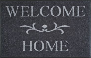 Welcome Home anthrazit 50 x 75 cm waschbare Fußmatte wash+dry
