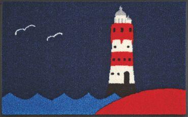 wash+dry Fußmatte Leuchtturm 50 x 75 cm waschbare maritime Fußmatte