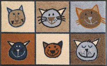 Miau Miau  50 x 75 cm waschbare Fußmatte wash+dry
