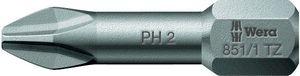 10x WERA Bit PH Gr.3 L.25mm 851/1TZ zähhart Antrieb C6,3