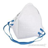 Silverline FFP-2-NR-Atemschutzmaske, flach gefaltet FFP-2 NR, Einweg