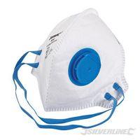 Silverline FFP-2-NR-Atemschutzmaske mit Ventil, flach gefaltet FFP-2 NR, Einweg