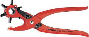 KNIPEX Revolverlochzange L.225mm Arbeitsbereich 2/2,5/3/3,5/4/5mm pulverbesch. – Bild 1