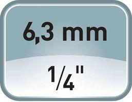 PROMAT Steckschlüsselsatz CV. 27tlg. T10-30 1/4 u.1/2Zoll f.4KT-Antrieb – Bild 3