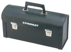 PROMAT Werkzeugtasche Rindleder ABS schwarz 360x110x170mm – Bild 1