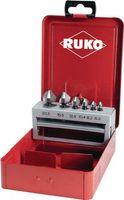 RUKO Senkbitsatz 9tlg. HSS 1/4Zoll i.Metallkassette – Bild 1