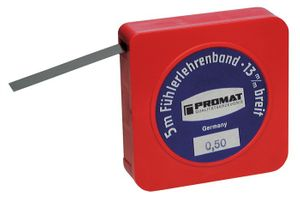 PROMAT Fühlerlehrenband Stärke 0,25mm L.5m B.13mm – Bild 1