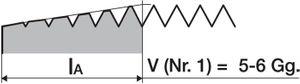 PROMAT Handgewindebohrersatz DIN352 M10 ISO2 (6H) 3tlg. – Bild 5