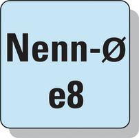 PROMAT Bohrnutenfräser DIN327D Typ N D.12mm HSS-E Co8 2 Schneiden kurz – Bild 5