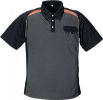TERRATREND Herrenpoloshirt Gr.XXL dunkelgrau/schwarz/orange 50%PES/50%CoolDry – Bild 1