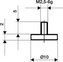 KÄFER Messeinsatz D.20mm plan Stahl f.Messuhren – Bild 1