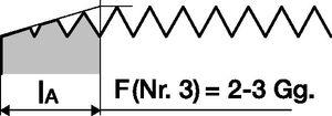 PROMAT Handgewindebohrersatz DIN352 M16 ISO2 (6H) 3tlg. – Bild 3