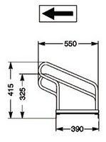 Fahrrad-Bügelparker 5er 1seitig Radabstand 350mm – Bild 2